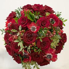 Букет Б139 с розами и анемонами