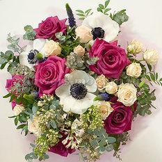 Букет Б155 с розами, анемонами и сиренью