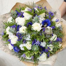 Букет Б185 с розами и анемонами