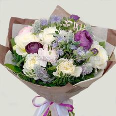 Букет Б204 с пионовидными розами