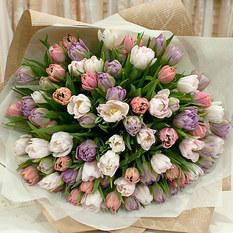 Монобукет Б364 из тюльпанов