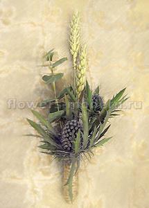 Бутоньерка С034 с пшеницей