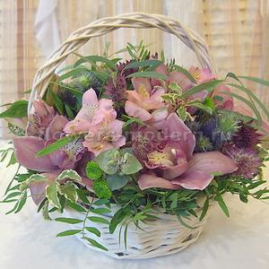 Корзина К133 с орхидеями