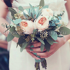 Букет невесты С014 с эхеверией