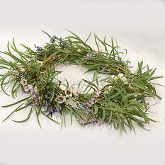 Веночек невесты С055 из полевых цветов