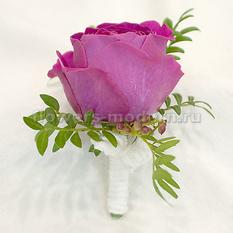 Бутоньерка С075 с пионовидной розой