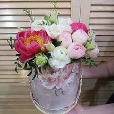 Коробка с цветами К219