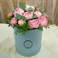 Коробка с цветами К154