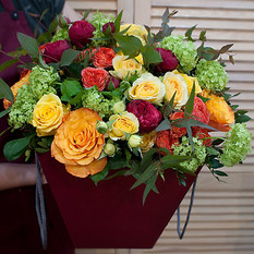 Коробка с цветами К213