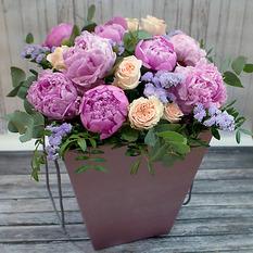 Коробка с цветами К218