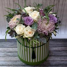 Коробка с цветами К255