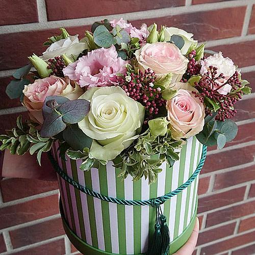 Коробка с цветами К237